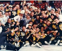 Penguins 1991 Stanley Cup Champs Celebration on Ice LIMITED STOCK 8x10 Photo