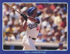 Ken Landreaux Stats On Back Unocal Poster Stock Includes Free Top Loader SUPER SALE LA Dodgers 8 1/2X11 Photo