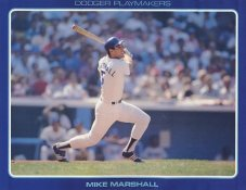 Mike Marshall Stats On Back Unocal Poster Stock Includes Free Top Loader SUPER SALE LA Dodgers 8 1/2X11 Photo