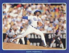 Ken Howell Stats On Back Unocal Poster Stock Includes Free Top Loader SUPER SALE LA Dodgers 8 1/2X11 Photo