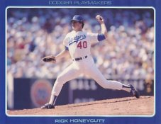 Rick Honeycutt Stats On Back Unocal Poster Stock Includes Free Top Loader SUPER SALE LA Dodgers 8 1/2X11 Photo