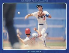 Steve Sax Stats On Back Unocal Poster Stock Includes Free Top Loader SUPER SALE LA Dodgers 8 1/2X11 Photo