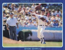 Enos Cabell Stats On Back Unocal Poster Stock Includes Free Top Loader SUPER SALE LA Dodgers 8 1/2X11 Photo