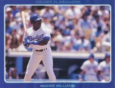Reggie Williams Stats On Back Unocal Poster Stock Includes Free Top Loader SUPER SALE LA Dodgers 8 1/2X11 Photo