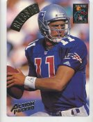 Drew Bledsoe LIMITED STOCK Action Packed Mammoth Cards w/ Stats on Back New England Patriots 7.5 X 10.5 Photo Card