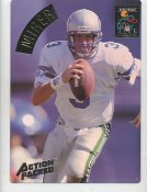 Rick Mirer LIMITED STOCK Action Packed Mammoth Cards w/ Stats on Back Seattle Seahawks 7.5 X 10.5 Photo Card