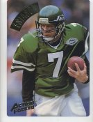 Boomer Esiason LIMITED STOCK Action Packed Mammoth Cards w/ Stats on Back New York Jets 7.5 X 10.5 Photo Card