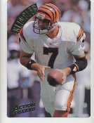 David Klingler LIMITED STOCK Action Packed Mammoth Cards w/ Stats on Back Cincinnati Bengals 7.5 X 10.5 Photo Card