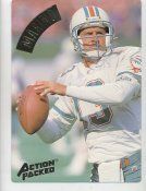 Dan Marino LIMITED STOCK Action Packed Mammoth Cards w/ Stats on Back Miami Dolphins 7.5 X 10.5 Photo Card