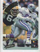 Emmitt Smith LIMITED STOCK Action Packed Mammoth Cards w/ Stats on Back Dallas Cowboys 7.5 X 10.5 Photo Card
