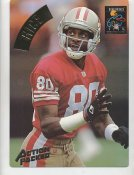 Jerry Rice LIMITED STOCK Action Packed Mammoth Cards w/ Stats on Back San Francisco 49ers 7.5 X 10.5 Photo Card