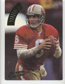 Steve Young LIMITED STOCK Action Packed Mammoth Cards w/ Stats on Back San Francisco 49ers 7.5 X 10.5 Photo Card