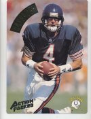 Jim Harbaugh LIMITED STOCK Action Packed Mammoth Cards w/ Stats on Back Chicago Bears 7.5 X 10.5 Photo Card
