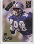 Michael Irvin LIMITED STOCK Action Packed Mammoth Cards w/ Stats on Back Dallas Cowboys 7.5 X 10.5 Photo Card