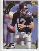 Chris Miller LIMITED STOCK Action Packed Mammoth Cards w/ Stats on Back Atlanta Falcons 7.5 X 10.5 Photo Card