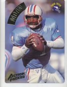 Warren Moon LIMITED STOCK Action Packed Mammoth Cards w/ Stats on Back Houston Oilers 7.5 X 10.5 Photo Card