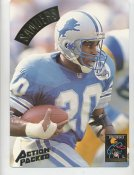 Barry Sanders LIMITED STOCK Action Packed Mammoth Cards w/ Stats on Back Detroit Lions 7.5 X 10.5 Photo Card