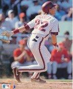 Bob Dernier LIMITED STOCK Philadelphia Phillies Glossy Card Stock 8x10 Photo