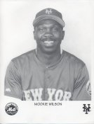 Mookie Wilson SUPER SALE New York Mets Slightly Bent Corner Comes in a Top Load Original Paper Stock 8.5X11 Photo