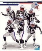 Rob Gronkowski, Brandon Spikes, Vince Wilfork, Stevan Ridley, Tom Brady, Jerod Mayo 2013 New England Patriots SATIN 8X10 Photo