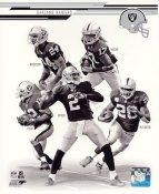 Terrelle Pryor, Darren Mcfadden, Denarius Moore, Charles Woodson, Jacoby Ford 2013 Oakland Raiders SATIN 8X10 Photo