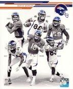 Wes Welker, Von Miller, Demaryius Thomas, Eric Decker, Champ Bailey, Peyton Manning 2013 Denver Broncos SATIN 8X10 Photo