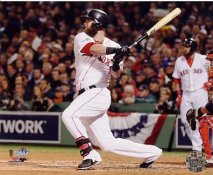 Mike Napoli 3 Run Double Game 1 World Series 2013 SATIN 8X10 Photo