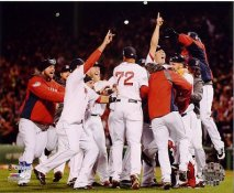 Boston 2013 World Series Champs Celebrating Game 6 Win Boston Red Sox SATIN 8x10 Photo