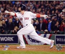 Shane Victorino 3 Run Double Game 6 of 2013 World Series Boston Red Sox SATIN 8x10 Photo