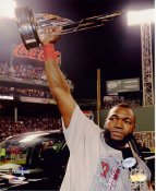 David Ortiz w/ 2013 MVP World Series Trophy Boston Red Sox SATIN 8x10 Photo