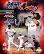 David Ortiz 2013 World Series ALCS Champions Composite Boston Red Sox SATIN 8x10 Photo