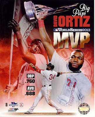David Ortiz 2013 World Series MVP Boston Red Sox SATIN 8x10 Photo