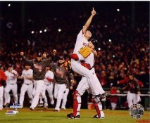 Koji Uehara & David Ross Celebrate 2013 World Series Win Boston Red Sox SATIN 8x10 Photo