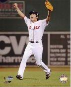 Koji Uehara Celebrates 2013 World Series Win Boston Red Sox SATIN 8x10 Photo