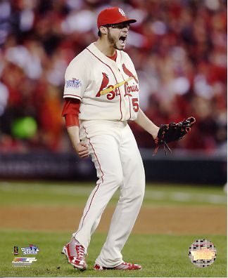 Joe Kelly 2013 World Series Game 3 St. Louis Cardinals SATIN 8x10 Photo