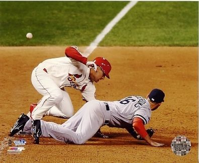 Allen Craig 2013 World Series Game 3 Winning Run Obstructed by Wes Middlebrooks St. Louis Cardinals SATIN 8x10 Photo
