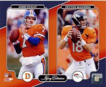 John Elway & Peyton Manning Legacy Collection Denver Broncos SATIN 8X10 Photo