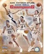 Tony Parker, Robert Horry, Tim Duncan, Brent Barry, Manu Ginobili Spurs 2005 NBA Champs LIMITED STOCK 8X10 Photo