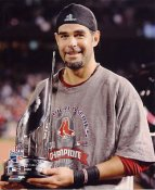 Mike Lowell 2007 WS MVP Trophy Red Sox No Hologram LIMITED STOCK 8x10 Photo