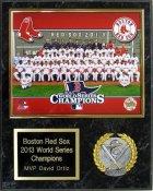 Boston 2013 Team Sitdown  World Series Plaque 12x15 Black Marble Red Sox