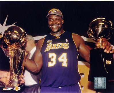 Shaq O'Neal LIMITED STOCK 2001 NBA Finals LA Lakers 8X10 Photo