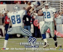 Emmitt Smith LIMITED STOCK 25th TD Breaks NFL Single Season Record Dallas Cowboys 8X10 Photo
