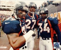 Ray Crockett, Steve Atwater, Tyrone Braxton Denver Broncos LIMITED STOCK 8X10 Photo