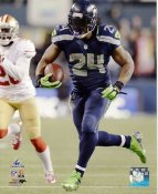 Marshawn Lynch 2013 NFC Championship Game Seattle Seahawks SATIN 8X10 Photo