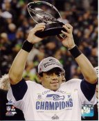 Russell Wilson 2013 NFC Champions Seattle Seahawks SATIN 8X10 Photo