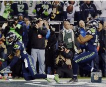 Richard Sherman, Malcolm Smith 2013 NFC Champs Game Pass Deflection Seattle Seahawks SATIN 8X10 Photo