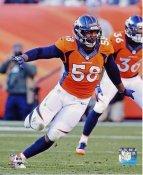 Von Miller Denver Broncos SATIN 8X10 Photo