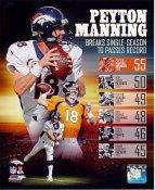 Peyton Manning 55 TD Record in Single Season Denver Broncos SATIN 8X10 Photo