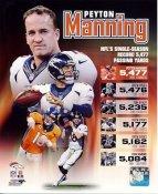 Peyton Manning 5,477 Passing Yards in Single Season Denver Broncos SATIN 8X10 Photo