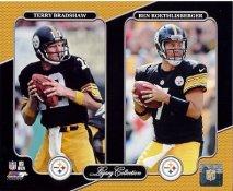 Terry Bradshaw, Ben Roethlisberger Pittsburgh Steelers Legacy SATIN 8x10 Photo